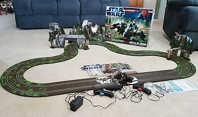 Star Wars Battle of Endor 1:32 scale slot system car set Scalextric