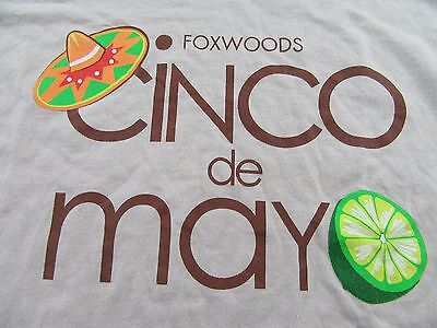 "FOXWOODS RESORT CASINO ""Cinco De Mayo"" Mexican Celebration T Shirt Size M"