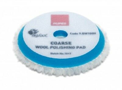 1 x Rupes 9.BW100H Wool Polishing Pad Coarse Bleu diam 80/90