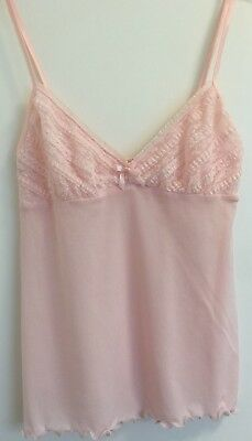 Victoria's Secret Pale Pink Waffle Stretchy Camisole Lingerie Top Extra-Small