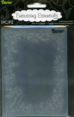 Darice Embossing Folder - BIRD SCROLL FRAME