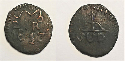 Mexico 1813 2 Reales - Morelos SUD - wide spacing obverse