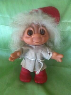 Dam Troll 1980 Rare Vintage Original Red Ribbed Legs + Hat Very Collectable