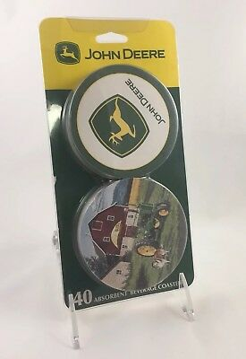 John Deere Coasters Set 40 Coaster Absorbent Beverage Licensed Birthday Party