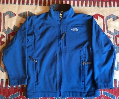 The North Face Apex Boy's Size Large Blue Softshell Fleece Jacket