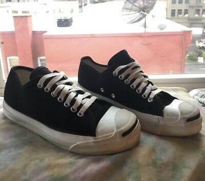 13836e03715e Vintage 1980s JACK PURCELL Converse MADE IN USA Sneakers Shoes Black Mens  Sz 7.5