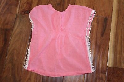 Girls Crewcuts 2T Coral Pool Beach Swimsuit Bathing Suit cover EUC