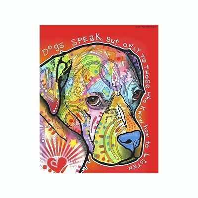 Pit Bull Dogs Speak But Only To Those Dean Russo Vinyl Dog Car Decal Sticker
