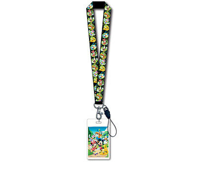 Disney Disney Mickey Mouse and Friends Black Lanyard with Card Holder Novelty Ch