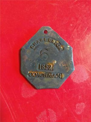 Hire Badge Copper Civil War Slavery Tag