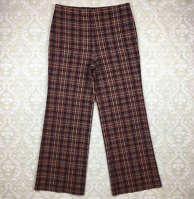 Vintage Union Made Act III High Waist Bell Bottoms Plaid Womens Size 12