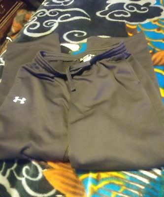 Under Armour Youth Black Joggers Fleece Lined Pockets Draw Strings