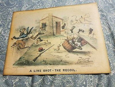 1881 poster repro,  A Line Shot - The Recoil.