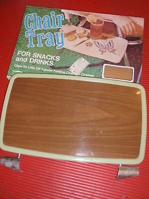 Vintage Cheinco Chair Tray For Folding Tube Chairs  Retro 1960'S