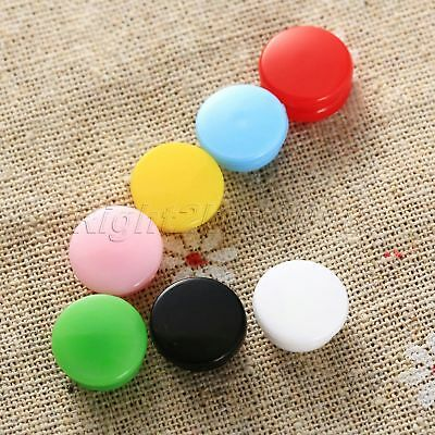 For Baby Clothes Diaper T5 Resin Snaps Press Buttons Fasteners 7 Colour 100pcs
