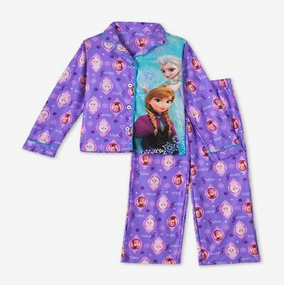 New Girsl Pyjamas Sleepwear PJs Elsa and Anna 2-5 years Cotton