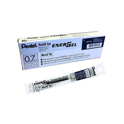 12 pcs Pentel Energel  Refill 0.7mm Navy Blue color Made in Japan one dozen