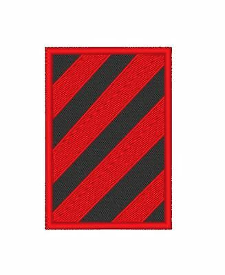 """E0127 Tv/Movie Patch -  Colony - """"Red / Black Hazard  """" Patch Embroidered"""