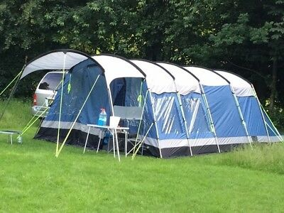 Outwell Indiana 8 Berth Tunnel Tent - Super Sturdy Tent - Used - Good Condition & KALAHARI 8 man tent/footprint and porch. Used for 3 nights ...