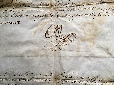Important D.PedroII King Of Portugal Document Signed ElRey 1684