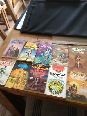 10 vintage science fiction paperbacks 1960s-80s in good condition starting  99P