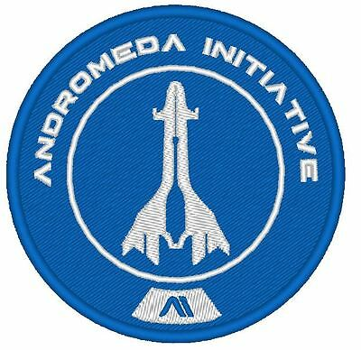 E0009   Game  Cosplay Patch - Mass Effect Andromeda Initiative Embroidered Blue