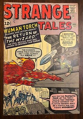 Silver Age - Marvel Comic - STRANGE TALES # 105 - 2nd App Of The Wizard