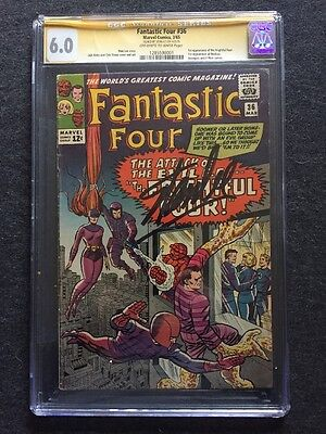 Fantastic Four #36 1st Medusa (Inhumans) Signed by Stan Lee CGC 6.0