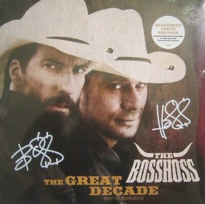 The BossHoss - The Great Decade, weißes 180 g Vinyl, Exclusive Edition