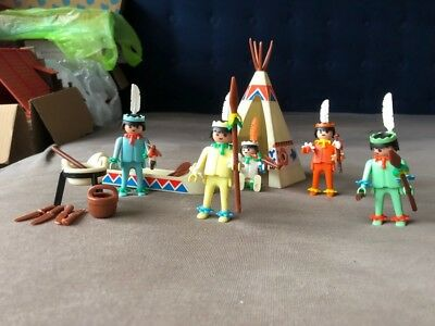 Playmobil 3120A+3252A 1974  Indianer Pastell  sehr selten !!