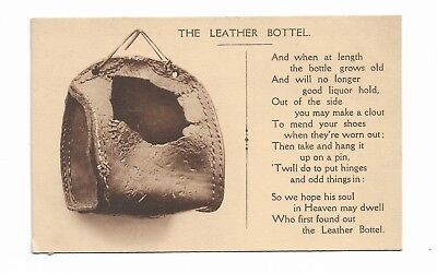 The Leather Bottel  Early 20th Century Comic Traditional Folk Song Postcard 228E