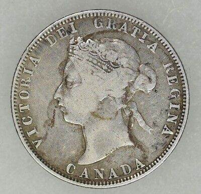 "1872-H Canada 25 Cents Queen Victoria Circulated ""Better Date"""