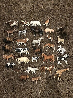Schleich Lot of 30 Pieces - cows. horse, elephant, pig, bears, etc.