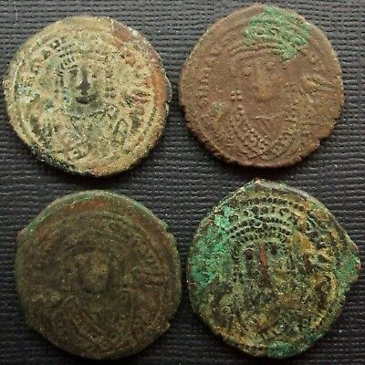 Byzantine, Lot of 4 AE Folles, 8th-9th century AD