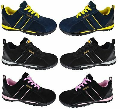 Womans Safety Work Shoes Ladies Steel Toe Cap Trainers Boots Shoes Size 3-8