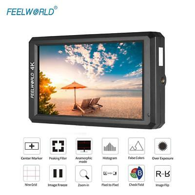 "FEELWORLD F6 5.7"" FULL HD 1080P 16:9 IPS LED Camera Field Video Monitor 4K HDMI"