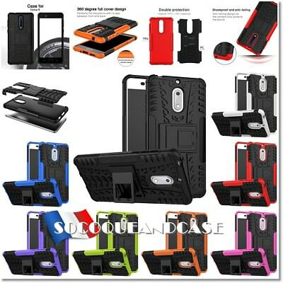 Etui Coque housse Antichocs Shockproof Tire Case cover Nokia 1, 2, 5, 6, 8, 5.1+