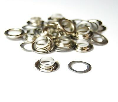 BRASS Metal Eyelet Grommets & Washer Findings - For Leather Clothing Flag Banner