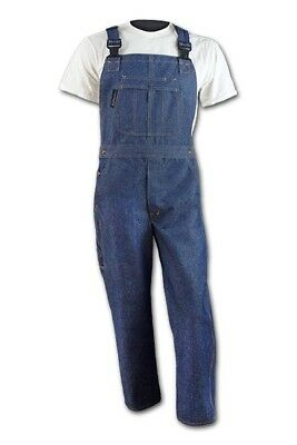FR Denim Bib Overall, Large, Fire Resistant Clothing