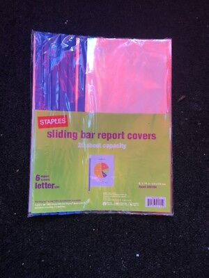 Staples Report Cover Quantity Of 6 Letter Size  Brand New