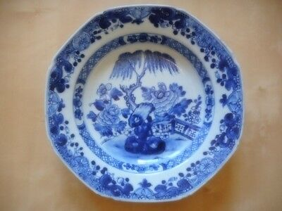 Assiette porcelaine Chine Kangxi china chinese porcelain plate 22,5 cm 8.6 inch