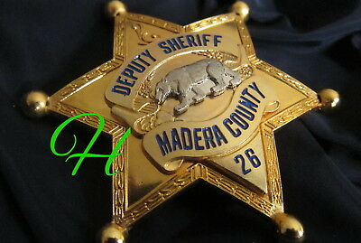 h./ Historisches police badge / Deputy Sheriff Madera County , California