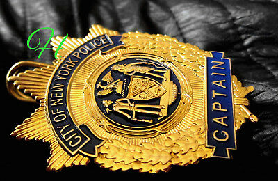 h./ Historisches Police badge + Captain, City of New York Police / NYPD