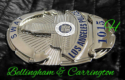 h./ Historisches police badge + SWAT - Los Ang. Police Department / hallmark B&C