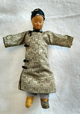ANTIQUE CHINESE DOOR Of HOPE MISSION MAN WOODEN DOLL VERY RARE 1900s CHINA DOLL