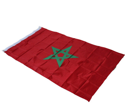 NEW 3X5 MOROCCO FLAG 3'X5' 3FT X 5FT MOROCCAN national flag banner flying style