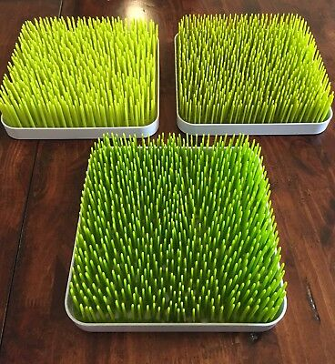 3 Bottle Drying Rack -grass.   2 Boon Brand, 1 Generic Brand
