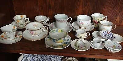 Tea cups,Saucers & Salt Cellars