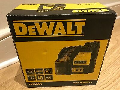 Dewalt DW088K 2 Way Self-Levelling Cross Line Laser Level Kit DW088 DW088K-XJ