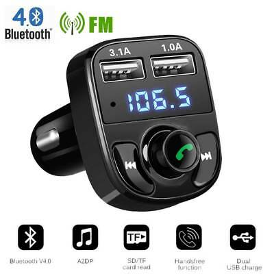 Wireless Bluetooth Car Kit FM Transmitter Radio Adapter MP3 Player 2-USB Charger